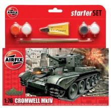 1:76 Scale Cromwell MkIV Tank Starter Set - 55109