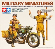 1:35 Scale British BSA M20 Motorcycle w/Military Police Set - T35316