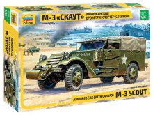 1:35 Scale Armored Car (With Canvas) M-3 Scout - ZV3581