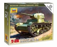 1:100 Scale Soviet Light Tank T-26 Snap Fit - ZV6113