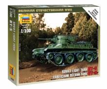 1:100 Scale Soviet Light Tank BT-5 Snap Fit - ZV6129