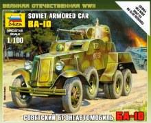 1:100 Scale BA-10 Soviet Armored Car - ZV6149