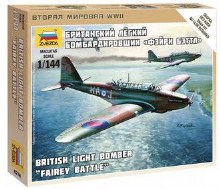 1:144 Scale British Light Bomber Fairey Battle Snap Fit - ZV6218