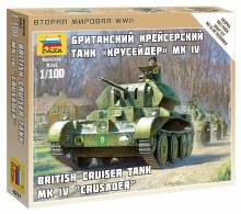 1:100 Scale British Cruiser Tank MK.IV Crusader Snap Fit - ZV6227