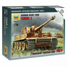 1:100 Scale German Heavy Tank Tiger I Snap Fit - ZV6256