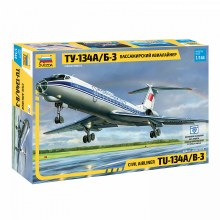 1:144 Scale Civil Airliner TU-134A/B-3 - ZV7007