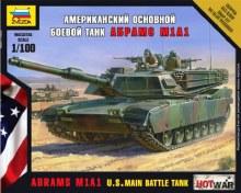 1:100 Scale Abrams A1M1 US Main Battle Tank - ZV7405