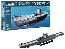 1:350 Scale German Type VII C Submarine - 05093