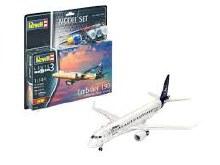 1:144 Scale Embraer 190 Lufthansa Mdoel Set - 63883