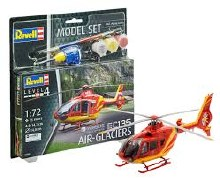 1:72 Scale EC135 Air-Glaciers Airbus Helicopters Model Set - 64986