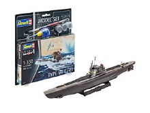 1:350 Scale German Submarine Type VII C/41 Model Set - 65154