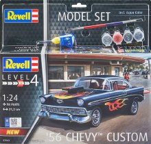 1:24 Scale '56 Chevy Customs Plastic Model Kit - 67663