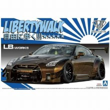 1:24 Scale Aoshima LB Works R35 GT-R Type 2 Ver. 1 - A005591