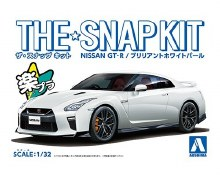 1:32 Scale Nissan GT-R (White Pearl) Snap Kit - A005639