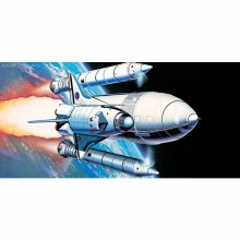 1:288 Scale Space Shuttle & Booster Rockets - 12707