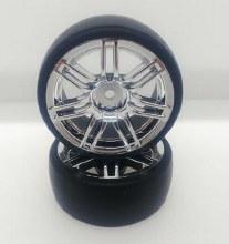 1:10 Chrome 7 Spoke Drift wheel