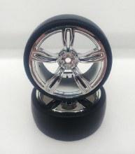 1:10 Chrome 5 Spoke Drift Wheel