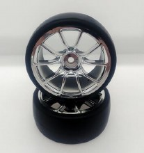 1:10 Chrome 10 Spoke Drift Wheel