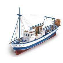 1:35 Scale Mare Nostrum Fishing Boad Wooden Kit - 20100