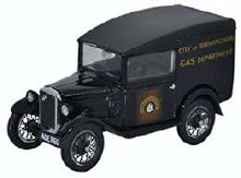 1:43 Scale Austin Seven RN Van City Of Birmingham Gas Dept - ASV006