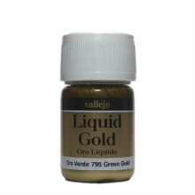 Alcohol Based Liquid Gold Golden Green Metallic 35ml - 70795