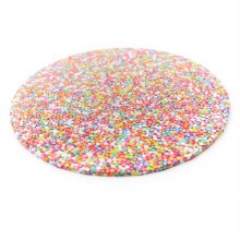 "Bake Group Cake Board Sprinkles - 12"" Round"