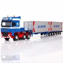 1:50 Scale Blue Container Truck - KDW625022