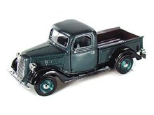 1:24 Scale 1937 Ford Pick Up, Green - MM73233