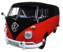 1:24 VW Type 2 (T1) Delivery Van Black/Red - MM79342