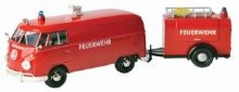 1:24 VW Type 2 (T1) Fire Van w/ Trailer - MM79671