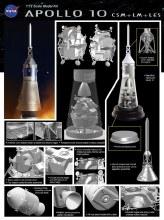 1:72 Scale Apollo 10 CSM + LM + LES - DR11003