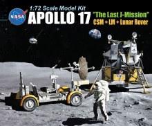 "1:72 Scale Apollo 17 ""The Last J-Mission"" CSM + LM + Lunar Rover - DR11015"