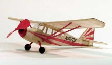 "Citabria 17.5"" Wingspan Walnut Scale Rubber Powered Flying Model Kit - 205"