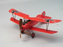"Albatros D-5 18"" Wingspan Walnut Scale Rubber Powered Flying Model Kit - 232"