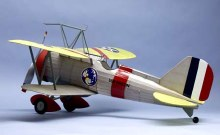 "Curtiss F9C-2 Sparrowhawk 30"" Wingspan Scale Rubber Powered Flying Model Kit - 319"