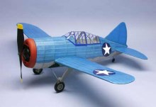 "Brewster F2A-3 Buffalo 30"" Wingspan Scale Rubber Powered Flying Model Kit- 320"