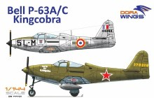 1:144 Scale Bell P-63 A/C Kingcobra - DW14401