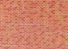 HO Scale Wall Card, Red Brick - 170608