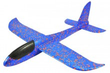 Mini Fox V2 Hand Launch Foam Chuck Glider - Blue