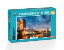 Cincinnati Bridge at Dusk 1000pc - FUN1058