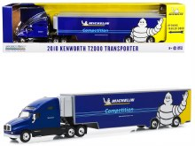 """1:64 Scale 2018 Kenworth T2000 Transporter Blue """"Michelin Competition"""" - GL30056"""