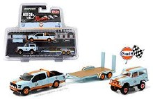 1:64 Scale 2015 Ford F-150 Pickup Truck & 1966 Ford Bronco Gulf Oil - GL51061-A