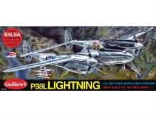"""40"""" P-38 Lightning Balsa Kit - 2001"""