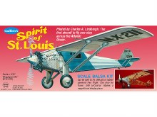 """Spirit of St. Louis 34.5"""" Wingspan Flying Model Kit - 807"""