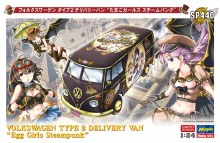 """1:24 Scale Volkswagon Type 2 Delivery Van """"Egg Girls Steampunk"""" - 52240"""