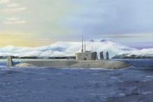1:350 Scale Russian Navy Project 955 Borei-Yuri Dolgoruky SSBN - HB83520