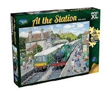 At The Station: Corfe Castle XL 500pc - HOL770519