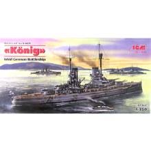 1:350 Scale König WWI German Battleship - ICMS001