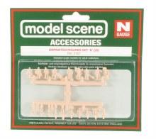 N Scale Assorted Unpainted Figures Set B (20) - 5157