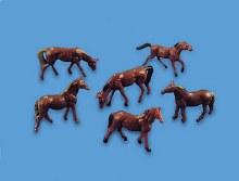 N Scale Horses (6) - 5178